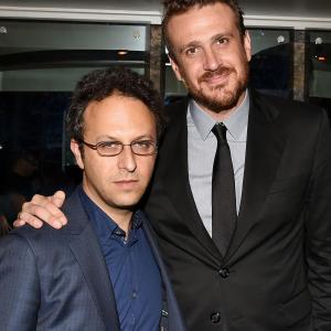 Jake Kasdan and Jason Segel at event of Sex Tape (2014)