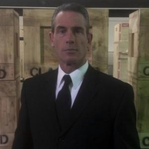On the set of Americas Book Of Secrets Season 2 Promo Commercial as the mysterious Federal Agent Man
