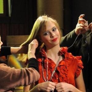 Giselle DaMier on the set of Biz Kid