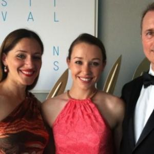 Alexandra Callas Caroline Barry and David Mitchum Brown at 68th Cannes Film Festival