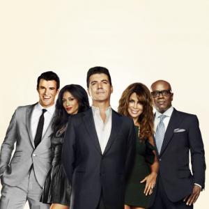 Paula Abdul, Nicole Scherzinger, Simon Cowell, L.A. Reid and Steve Jones in The X Factor (2011)