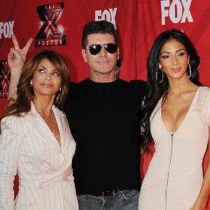 Paula Abdul, Nicole Scherzinger and Simon Cowell at event of The X Factor (2011)