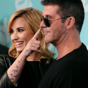 Simon Cowell and Demi Lovato