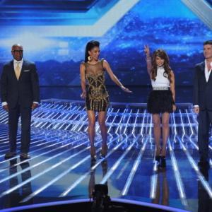 Still of Paula Abdul, Nicole Scherzinger, Simon Cowell and L.A. Reid in The X Factor (2011)