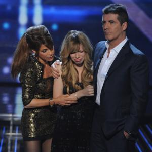 Still of Paula Abdul, Simon Cowell and Drew Ryniewicz in The X Factor (2011)