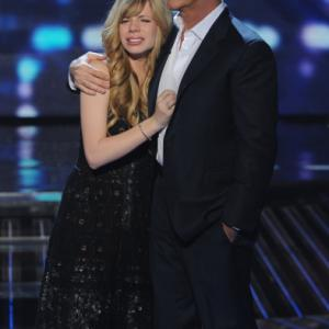 Still of Simon Cowell and Drew Ryniewicz in The X Factor (2011)