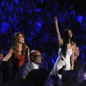 Still of Paula Abdul, Nicole Scherzinger, Simon Cowell and L.A. Reid in The X Factor: Auditions #1 (2011)