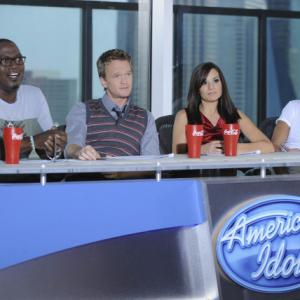 Still of Neil Patrick Harris, Simon Cowell, Randy Jackson and Kara DioGuardi in American Idol: The Search for a Superstar (2002)