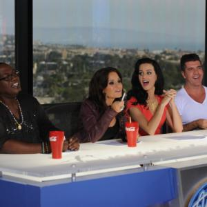 Still of Simon Cowell Randy Jackson Kara DioGuardi and Katy Perry in American Idol The Search for a Superstar 2002