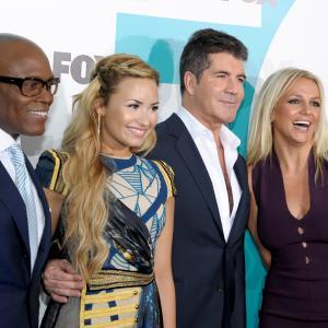 Britney Spears, Simon Cowell, L.A. Reid and Demi Lovato