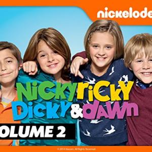 Still of Casey Simpson Mace Coronel Aidan Gallagher and Lizzy Greene in Nicky Ricky Dicky amp Dawn 2014