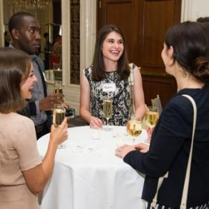 Mia Ella Jordan, left, Buki Blegbede, Rachel Pierece and Mallory Gelderman attend Networking Night Out NYC presented by the Television Academy for its NY-based members at the St. Regis Hotel on Friday, June 12, 2015 in New York. (Photo by Charles Sykes/In