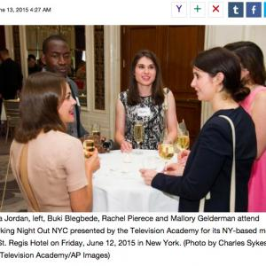 Mia Ella Jordan, Buki Blegbede, Rachel Pierece and Mallory Geldeman at NYC Television Academy event at the St. Regis Hotel.