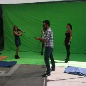 Ashley on set filming a beer commercial Rabbit Productions Director(s) Nick Losq, Jason Cook & Brinton Jaecks