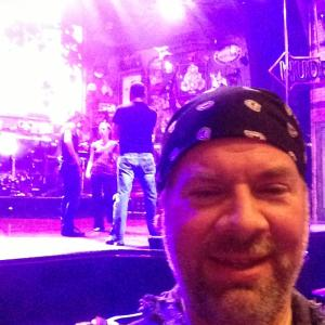 Gary Martin Hays performing on Broadway as a short order cook in the play Rock of Ages