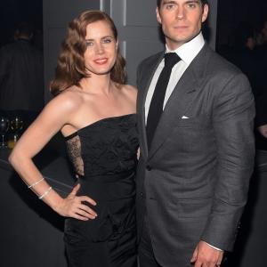 Amy Adams and Henry Cavill at event of Zmogus is plieno 2013