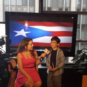 Jorge Vega interviewed on his recognition as Youth Ambassador at the National Puerto Rican Parade in New York City.
