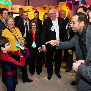 Jorge Vega invited as a special guest and charming toy industry executives at the Hasbro Toy Fair in New York City.