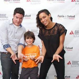 Jorge Vega, Rosario Dawson and Salsa Star Frankie Negron at the American Diabetes Association Por Tu Familia Health Fair in the Bronx, NY