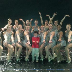 Jorge Vega with The Rockettes, 2013 Radio City Christmas Spectacular Shine Tour