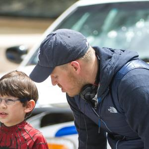 Jorge Vega and Director, Marc Webb on the set of The Amazing Spider-Man 2