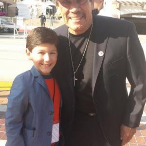 Jorge Vega with Danny Trejo at the 2014 ALMA Awards in Los Angeles