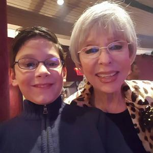 Selfie with Rita Moreno at the premier of Broadway's show