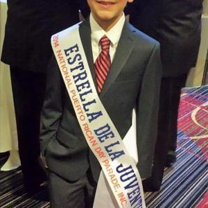 Jorge Vega being recognized as Youth Ambassador(Estrella de la Juventud)at the National Puerto Rican Parade gala.