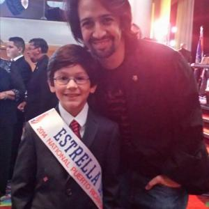 Jorge Vega with Broadway star, producer and director from