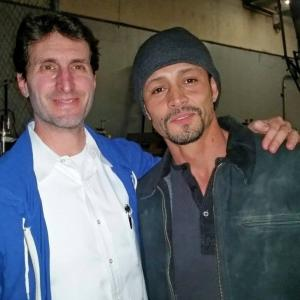 On set of The Secret in their Eyes with director Billy Ray