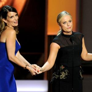 Tina Fey and Amy Poehler at event of The 65th Primetime Emmy Awards 2013