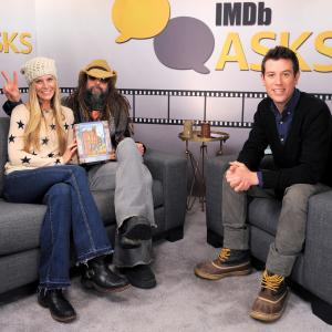 Sheri Moon Zombie, Rob Zombie and Ben Lyons at event of The IMDb Studio (2015)