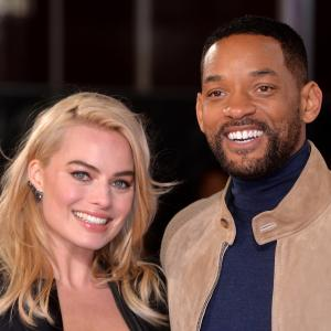 Will Smith and Margot Robbie at event of Susikaupk 2015