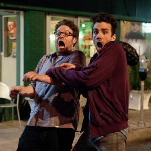 Still of Jay Baruchel and Seth Rogen in Dabar jau tikrai sikna 2013