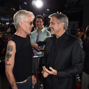 George Clooney and Billy Bob Thornton at event of Our Brand Is Crisis (2015)