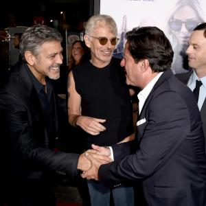George Clooney, Billy Bob Thornton, Joaquim de Almeida and Scoot McNairy at event of Our Brand Is Crisis (2015)