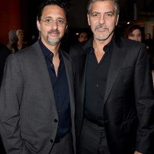 George Clooney and Grant Heslov at event of Our Brand Is Crisis (2015)
