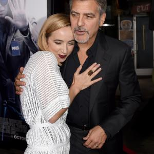 George Clooney and Zoe Kazan at event of Our Brand Is Crisis (2015)