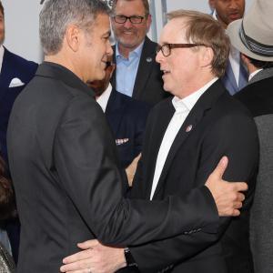 George Clooney and Brad Bird at event of Rytojaus zeme (2015)