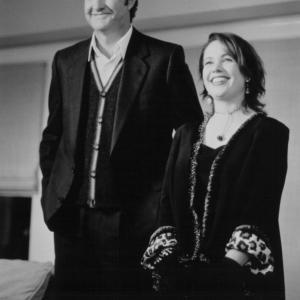 Still of Janeane Garofalo and Randy Quaid in Bye Bye Love 1995