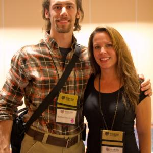 Nathan Jacobson with actressproducer Vanessa Ore Virtuous My Name Is Paul at the 2014 Gideon Media Arts Conference  Film Festival in Orlando