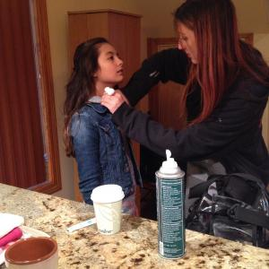 Special effects make up application
