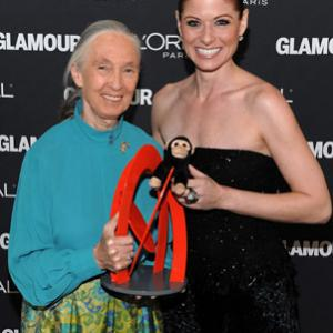 Debra Messing and Jane Goodall