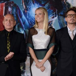 Robert Downey Jr., Gwyneth Paltrow and Ben Kingsley at event of Gelezinis zmogus 3 (2013)