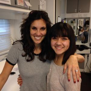 Daniela Ruah and I getting our hair cut together on NCISLA set