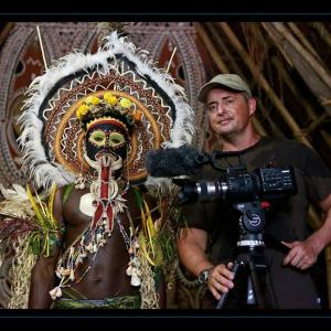 During filming in Papua New Guinea