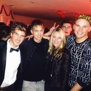 Jaki Nelson and Youtube Personalities from left Joey Graceffa Luke Conard and Brandon Skeie