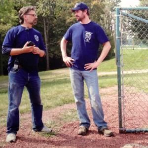 Stephen R Campanella and Tom Everett Scott on location with Love Finds You in Sugarcreek Ohio