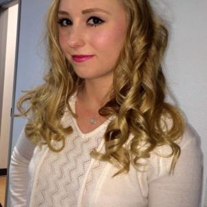 Amanda Bassett in makeup for Focus