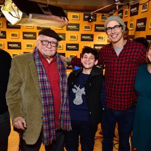 Edward Asner Tom Cavanaugh Emily Glassman David Mazouz and Keith Simanton at event of The IMDb Studio 2015